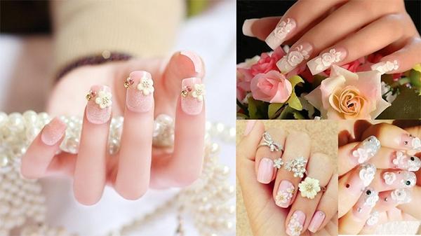 10 mẫu nail cô dâu đẹp đơn giản nhẹ nhàng hiện đại và sang chảnh - 8