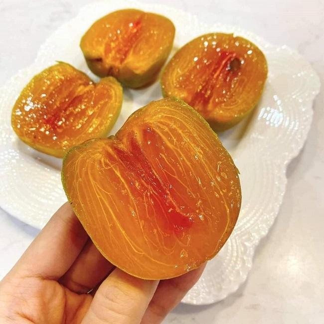 Loại hồng lạ ăn như thạch, giá cả trăm nghìn đồng/kg thành đặc sản hút khách Hà thành - 5