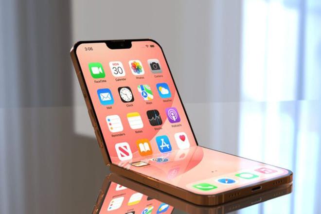 iPhone gập lại lạ lẫm với notch thu gọn - 1