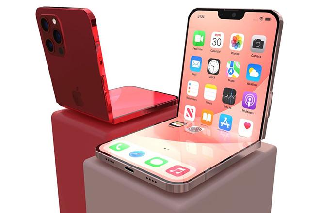 iPhone gập lại lạ lẫm với notch thu gọn - 4