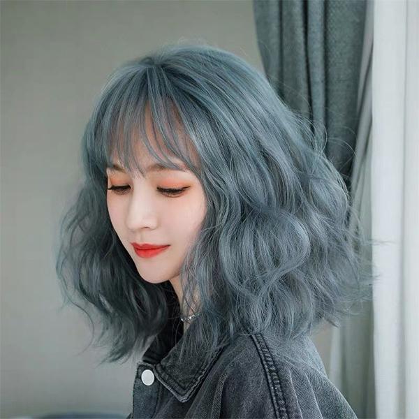 Top 12 màu tóc xám xanh đẹp trẻ trung ấn tượng và vô cùng nổi bật - 1