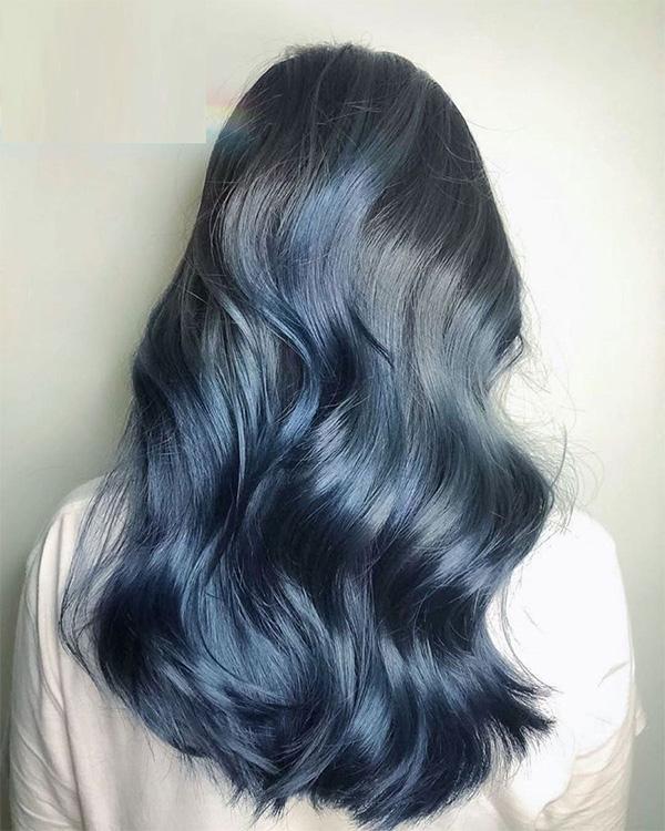 Top 12 màu tóc xám xanh đẹp trẻ trung ấn tượng và vô cùng nổi bật - 12