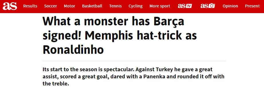 Báo Tây Ban Nha choáng vì hat-trick của Depay, ví đẳng cấp như Ronaldinho - 2