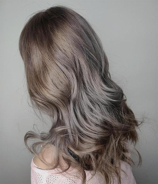 12 màu tóc nâu xám đẹp ấn tượng nổi bật và cá tính được yêu thích nhất - 6