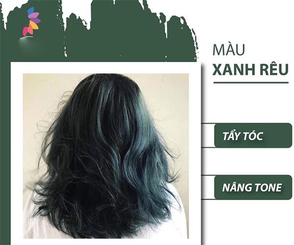 Top 10 màu tóc xanh rêu đẹp cá tính ấn tượng hot nhất hiện nay - 1