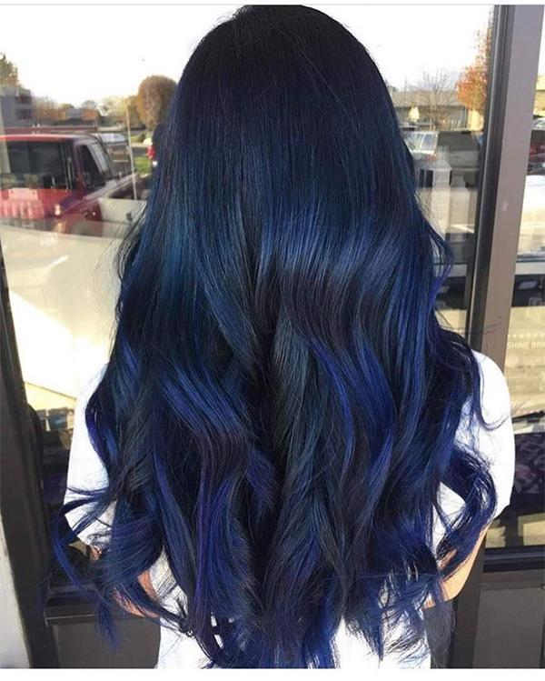 Top 10 màu tóc xanh rêu đẹp cá tính ấn tượng hot nhất hiện nay - 6