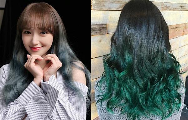 Top 10 màu tóc xanh rêu đẹp cá tính ấn tượng hot nhất hiện nay - 9