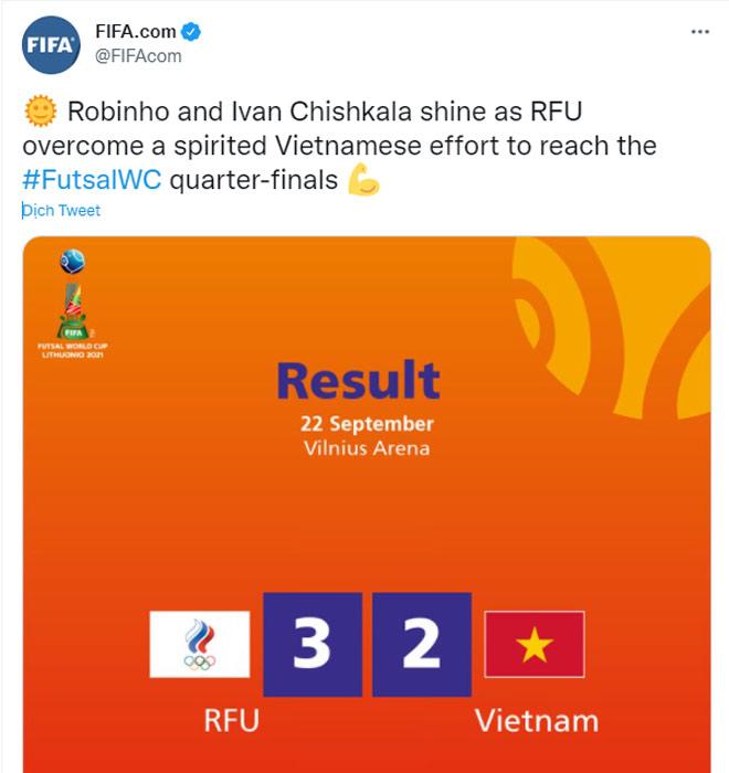 Việt Nam 2 lần xé lưới á quân Futsal World Cup: FIFA khen chiến công lịch sử - 4
