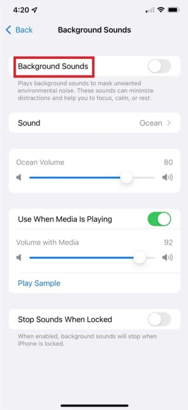 Cách tạo tiếng mưa trên iPhone bằng iOS 15 giúp dễ ngủ hơn - 3