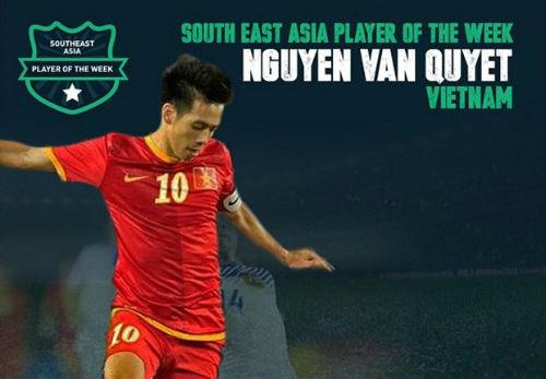 Tờ Goal chọn Văn Quyết xuất sắc nhất tuần ở Đông Nam Á