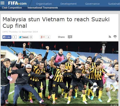 Báo chí nước ngoài ngợi ca Malaysia hạ gục ĐT Việt Nam