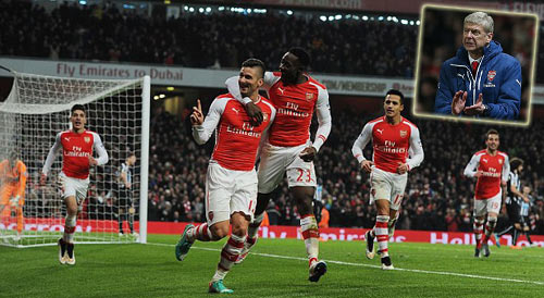 Arsenal đại thắng, HLV Wenger cảm ơn NHM