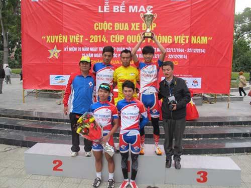 """Kết thúc Cuộc đua xe đạp """"Xuyên Việt: Dược Domesco Đồng Tháp 1 thắng lớn"""