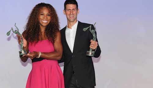 """Djokovic, Serena được bầu chọn là """"Tay vợt của năm"""""""