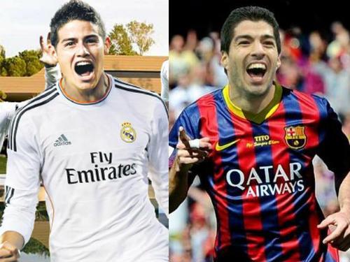 Suarez & James Rodriguez: So tài