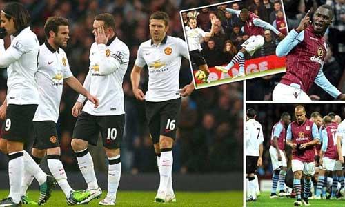 MU chia điểm với Aston Villa, Van Gaal thất vọng