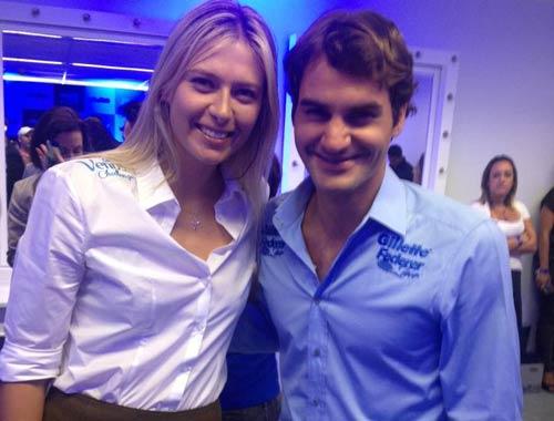 "Sharapova khen ngợi Federer ""cực kỳ quyến rũ"""