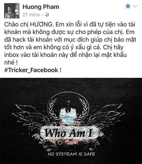 Thực hư Hoa hậu Phạm Hương bị hack Facebook - hình ảnh 1