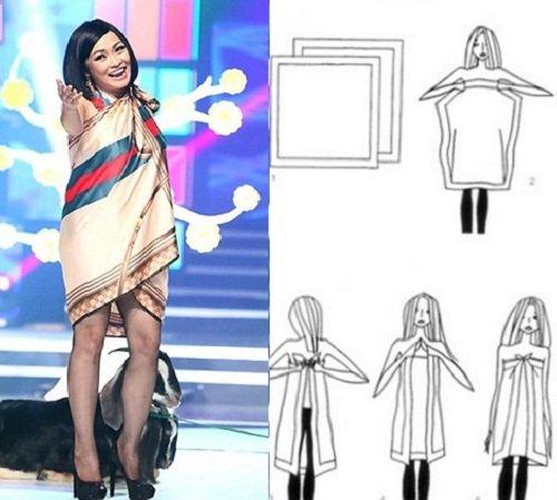 Đứng hình với mốt quấn khăn làm áo của Mỹ nữ Vbiz - hình ảnh 12