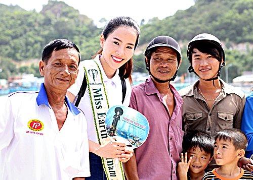 Nam Em đẹp tinh khôi trong clip mang tới Miss Earth - hình ảnh 1