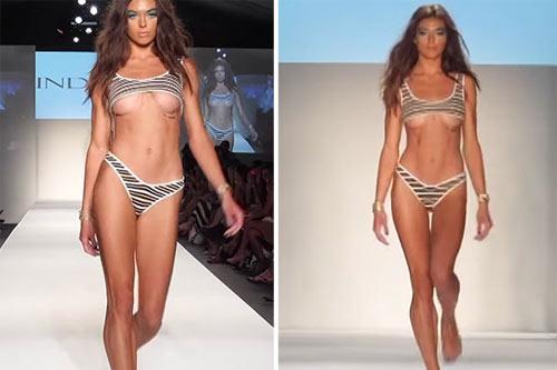 Khán giả thót tim vì người mẫu mặc bikini ngắn tới khó tin khi diễn - hình ảnh 2