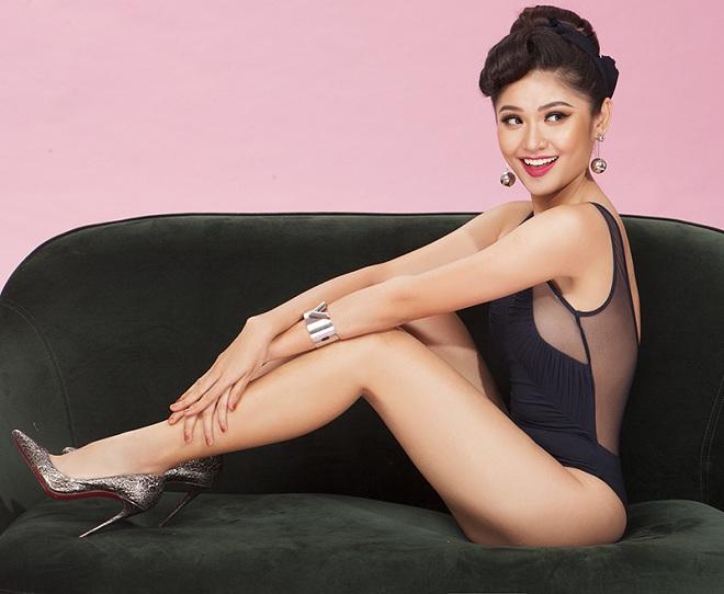 Á hậu Thùy Dung hiếm hoi khoe dáng với bikini khêu gợi - hình ảnh 5