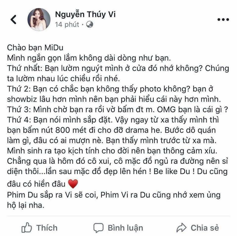 """Midu – Thuý Vi """"khẩu chiến"""", đại gia Phan Thành viết ngôn tình gửi tình mới - hình ảnh 1"""