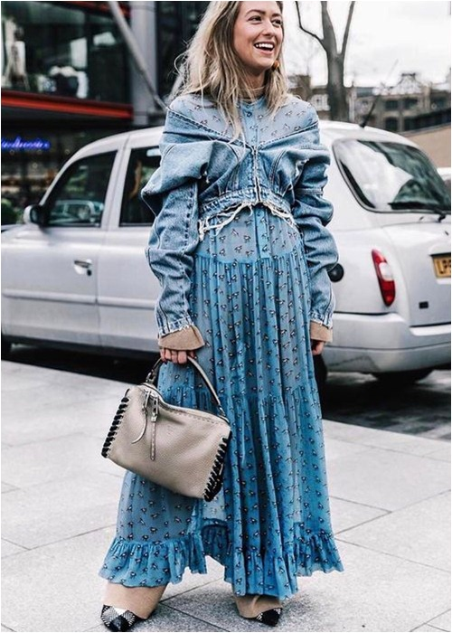 Mùa lạnh: Thời điểm hoàn hảo để diện váy dài - hình ảnh 3
