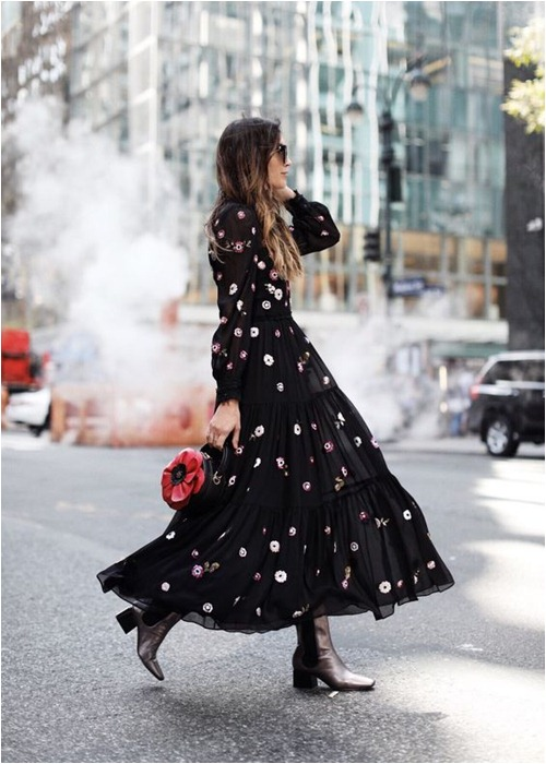 Mùa lạnh: Thời điểm hoàn hảo để diện váy dài - hình ảnh 10