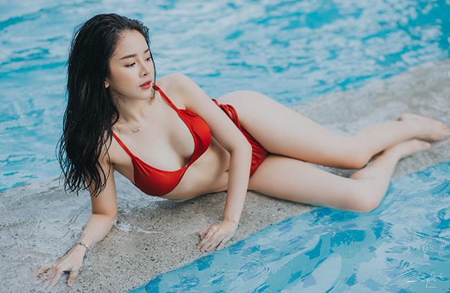 """Lần đầu hở bạo với bikini, """"Hoa hậu DJ"""" không dám đăng ảnh lên Facebook - hình ảnh 4"""