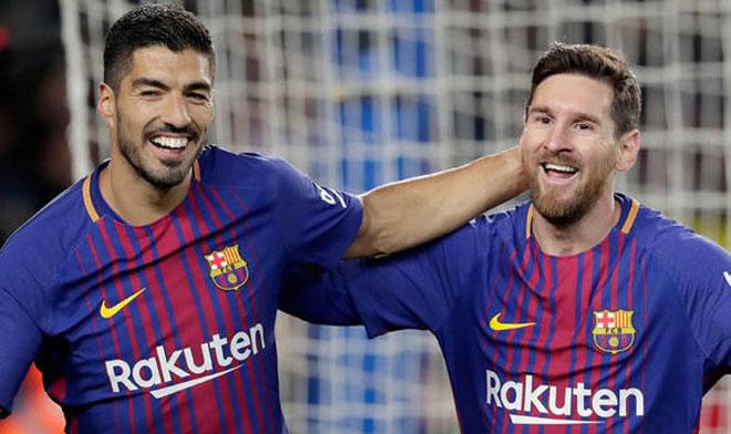 """Luis Suarez 3 năm - 0 bàn thắng: Messi mòn mỏi """"gánh"""" Barca tại Cup C1 - 2"""