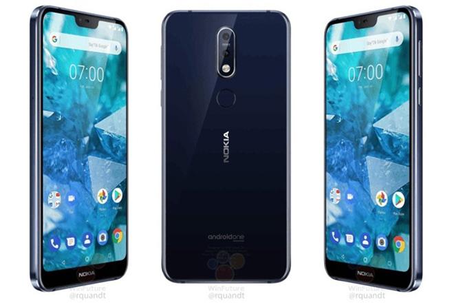 Nokia 7.1 màn hình mặt kính tai thỏ đẹp, giá bán chưa tới 10 triệu VND