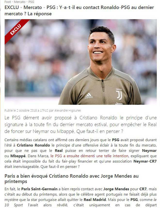 """Ngỡ ngàng """"siêu bom tấn"""": Báo Pháp rộ tin PSG bán Neymar mua Ronaldo - 2"""