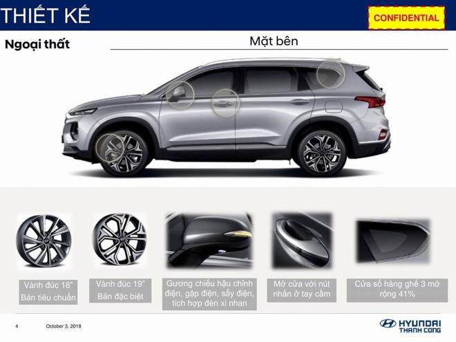 Hyundai SantaFe 2019 lộ thông số kỹ thuật, sắp ra mắt Việt Nam - 7