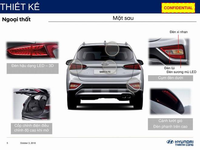 Hyundai SantaFe 2019 lộ thông số kỹ thuật, sắp ra mắt Việt Nam - 8
