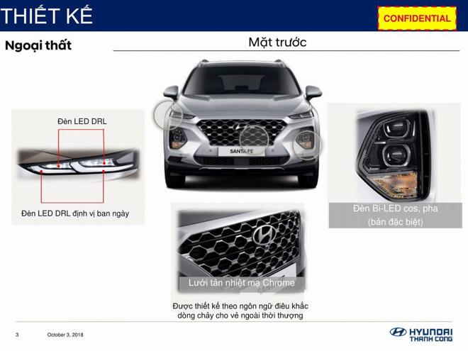 Hyundai SantaFe 2019 lộ thông số kỹ thuật, sắp ra mắt Việt Nam - 3