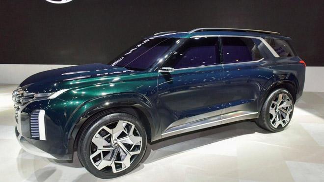 SUV cỡ lớn Hyundai Palisade bị bắt gặp trên đường chạy thử - 8