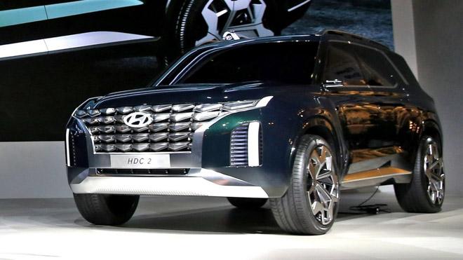 SUV cỡ lớn Hyundai Palisade bị bắt gặp trên đường chạy thử - 7