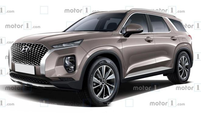SUV cỡ lớn Hyundai Palisade lộ ảnh thực tế trước khi ra mắt - 6
