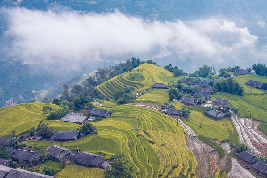 Ngỡ ngàng vẻ đẹp ruộng bậc thang Hoàng Su Phì mùa lúa chín - 15
