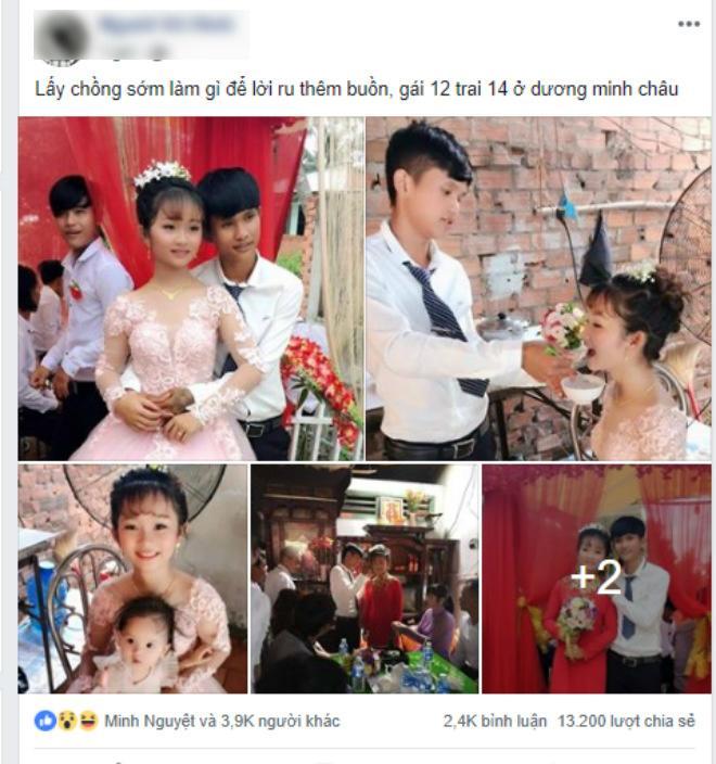 Xôn xao thông tin cặp đôi cô dâu 12, chú rể 14 từng gây bão mạng đã huỷ đám cưới, đường ai nấy đi sau 1 năm đính hôn - ảnh 1