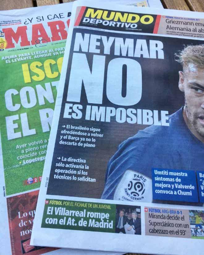 Giải phóng Neymar 215 triệu euro: Barca và Real ngó lơ, chờ MU chi bạo - 1