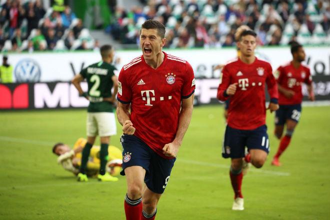 """Wolfsburg - Bayern Munich: """"Sát thủ"""" rực rỡ 2 bàn, 1 kiến tạo - 1"""