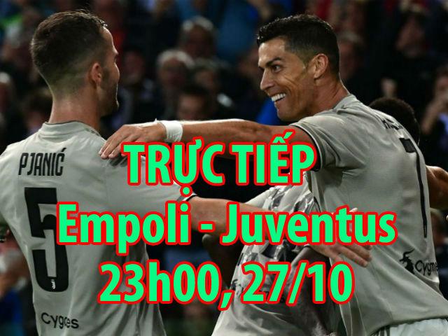 Trực tiếp Empoli - Juventus: Đội khách hú hồn cú vô-lê (KT)