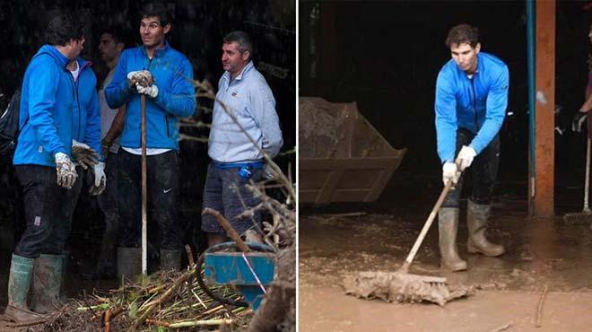 """Tin thể thao HOT 28/10: Nadal bị tố """"làm màu"""" khi đi cứu trợ - 1"""