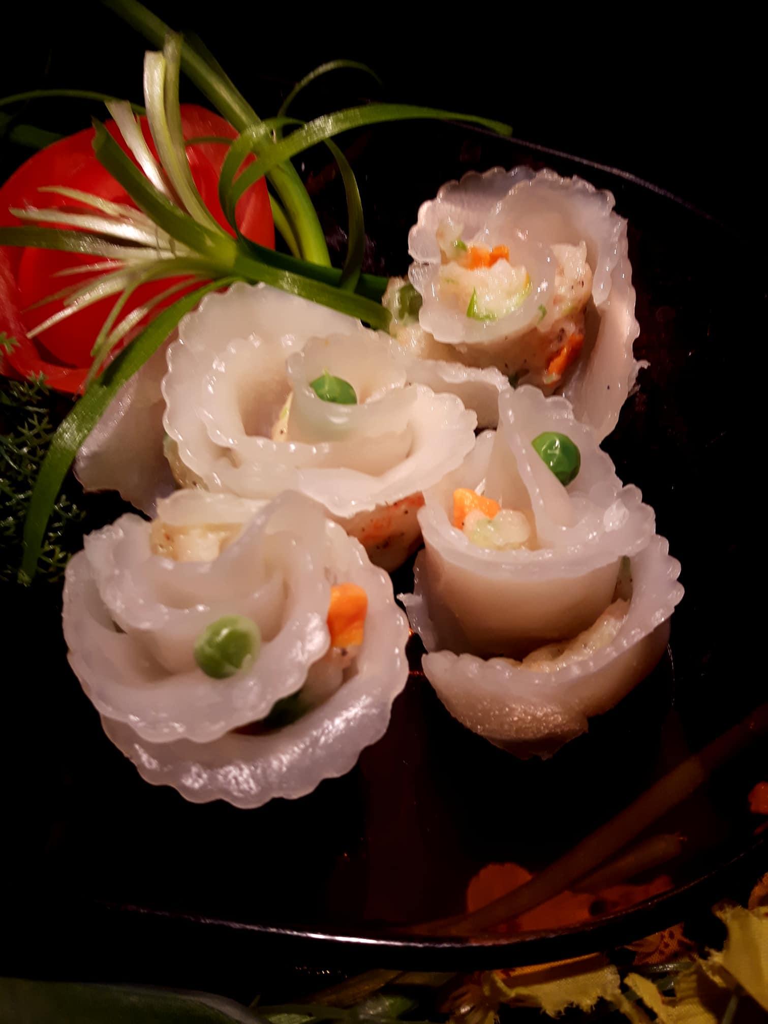 Tự làm há cảo hoa hồng trong veo cực xinh, thơm ngọt vị tôm thịt - 4