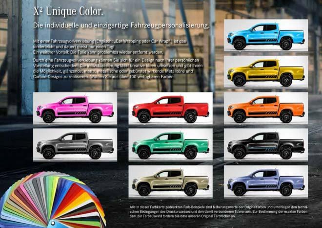 Mercedes-Benz X-Class bổ sung thêm gói trang bị đặc biệt, hơn 100 màu sơn ngoại thất - 2