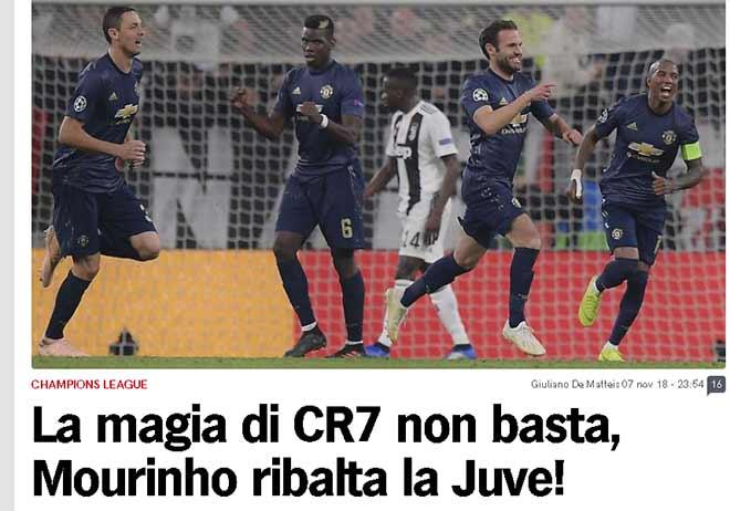 """MU ngược dòng khó tin hạ Juventus: Báo Anh tuyên dương """"tinh thần 1999"""" - 3"""