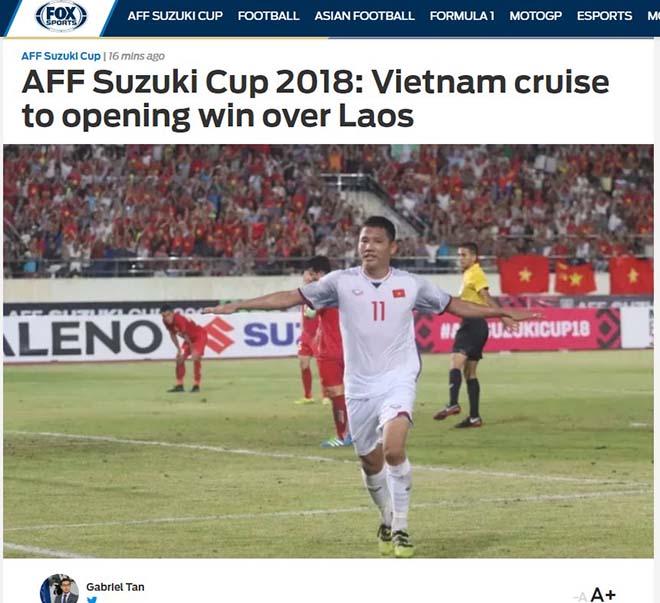Việt Nam thắng Lào: Trang chủ AFF Cup khen Quang Hải, báo Thái chúc mừng - 2