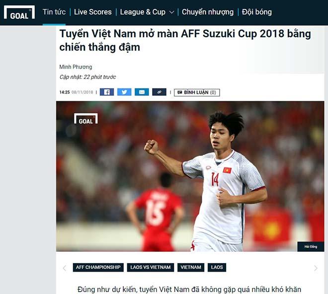 Việt Nam thắng Lào: Trang chủ AFF Cup khen Quang Hải, báo Thái chúc mừng - 4